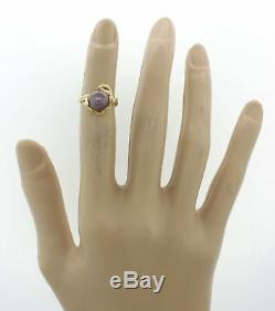 Vintage Estate Freeform 18k Solid Yellow Gold 8.5mm Tahitian Black Pearl Ring