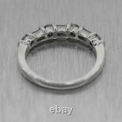 Vintage Estate Platinum 0.35ctw Baguette & Round Cut Diamond Wedding Band Ring