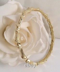Vintage Jewellery Gold Bangle Antique Deco Jewelry 19.5 cm bamboo pattern