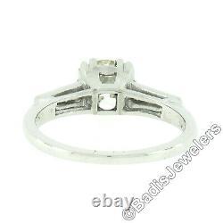 Vintage Platinum 1.84ctw GIA Old European Cut Diamond Solitaire Engagement Ring