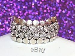 Vintage Rare Estate 14k Gold Genuine Diamond Ring Designer Signed Sonia B. Flex