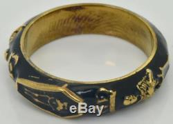 WOW! Victorian Memento Mori/Mourning Skull, Skeleton ornate 18k Gold, Enamel ring